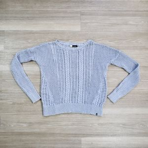 Volcom Light Blue Knit Crew Sweater